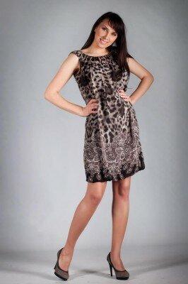 короткое летнее платье леопардовое