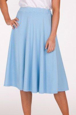 голубая юбка до колен