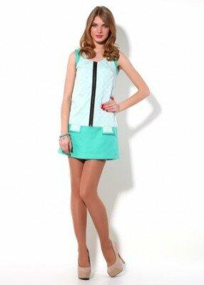 комбинированное короткое летнее платье цена