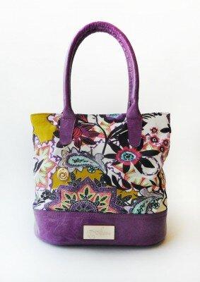 сумка с сиреневая с цветами