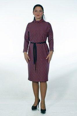 стильное платье в яркий принт с ромбиками