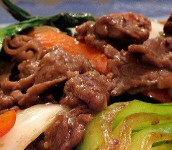Говядина с овощами по-китайски