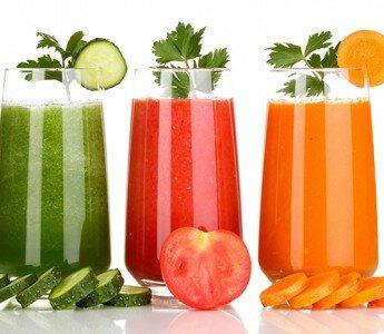 Свежие соки из овощей