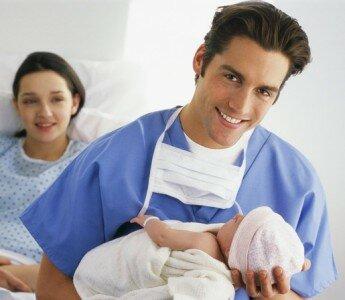 Рождение ребенка с помощью кесарево