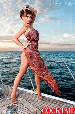 сарафан с открытыми плечами на яхте фото