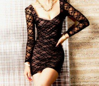 Кружевное платье – обязательный атрибут гардероба