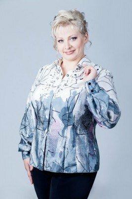 блуза большого размера с длинным рукавом