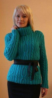 свитер короткий вязанный с чёрным поясом цена