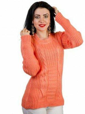 коралловый свитер короткий фото