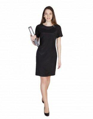 чёрное офисное платье в магазине