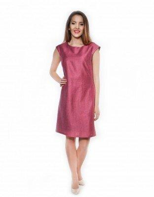 бордовое платье с коротким рукавом
