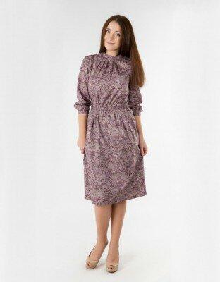 платье мокко с резинкой на поясе фото