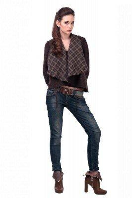 пиджак короткий тёплый из драпа с декоративно широкими лацканами