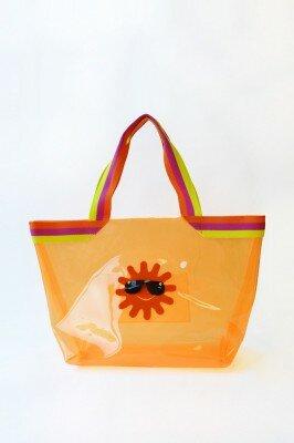 сумка жёлтая с солнцем в очках купить