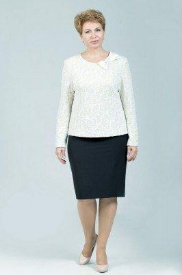 костюм юбочный чёрно белый петро сорока цена