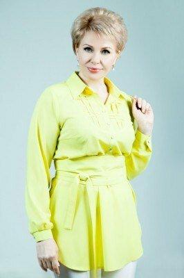 блуза с длинным рукавом лимонного цвета петро сорока с широким поясом больших размеров цена