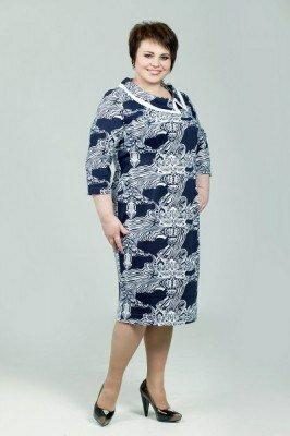 платье больших размеров ниже колен цена