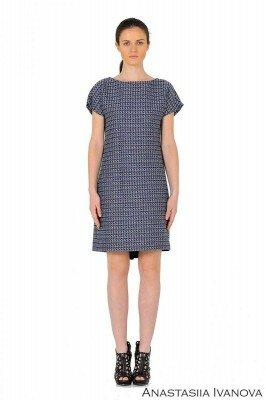 утеплённое платье с короткими рукавами цена