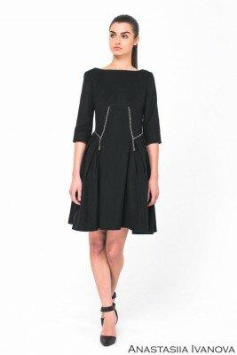 чёрное платье в офис цена