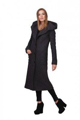 пальто ниже колен с капюшоном в интернет магазине