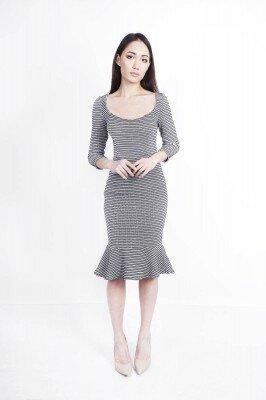 платье для офисного дрескода серое купить