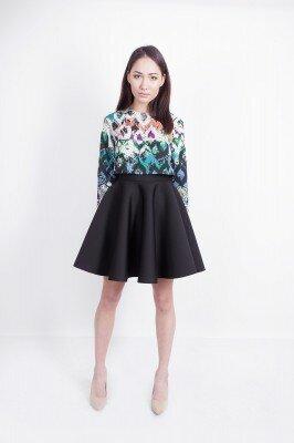 расклешёная юбка чёрного цвета цена