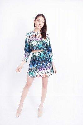 разноцветное короткое платье цена