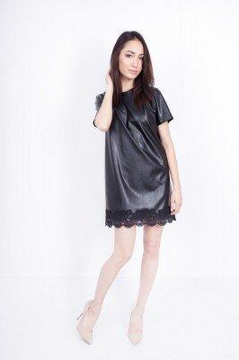 черное платье из блестящей ткани цена