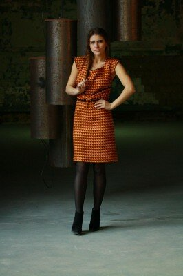 цветное платье с коротким рукавом цена