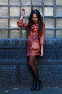платье с цветным принтом купить