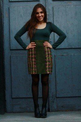 офисная юбка с принтоваными вставками цена