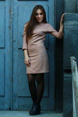 тёплое шерстяное платье цена
