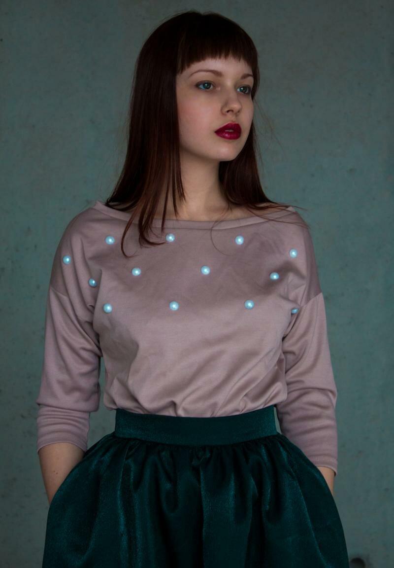 Блузка из трикотажа от Natalia Kravchenko цена