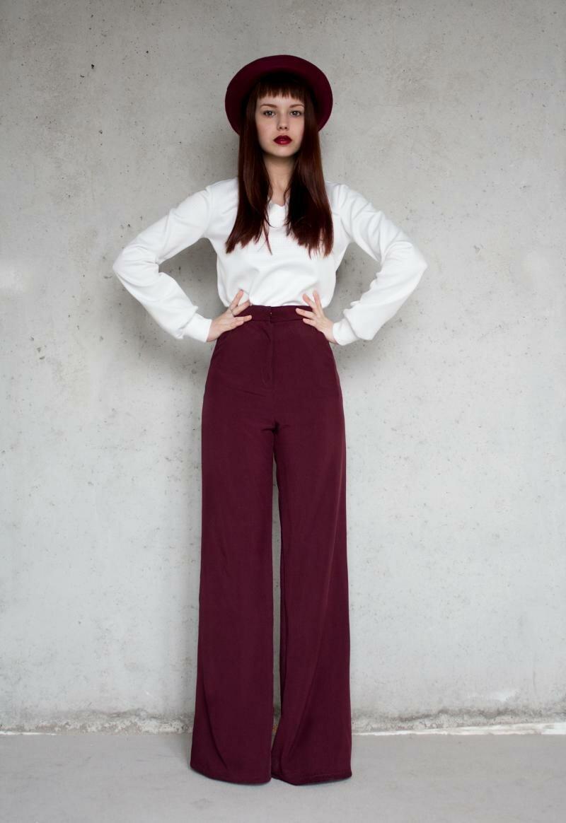 Женские брюки широкие от бедра с высокой талией цена