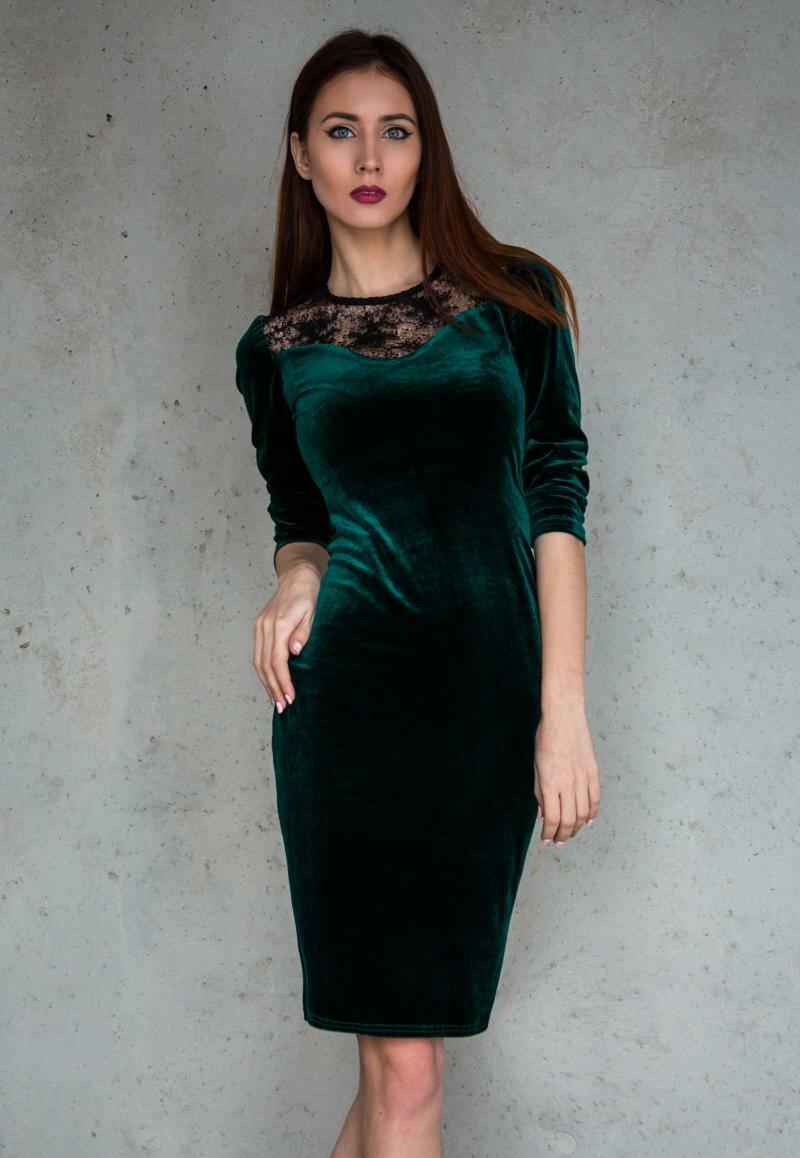 Бархатное платье футляр от Natalia Kravchenko