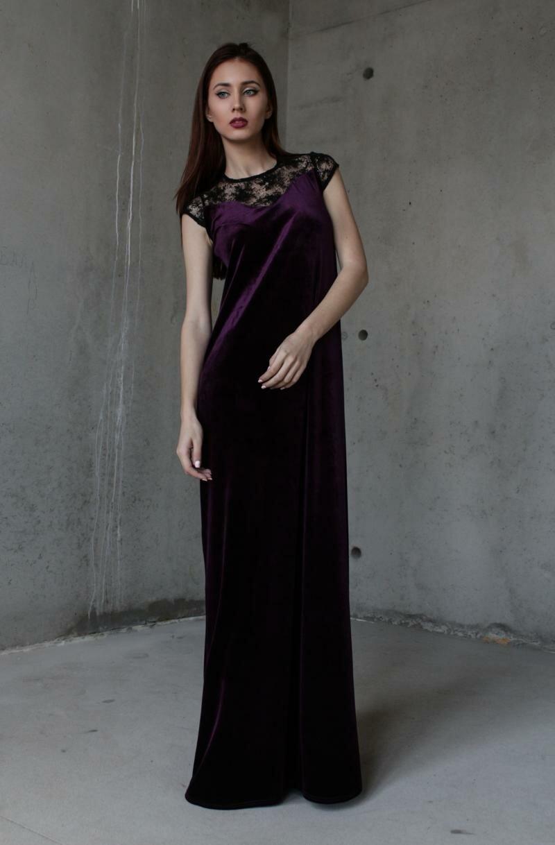 Длинное фиолетовое платье от Natalia Kravchenko