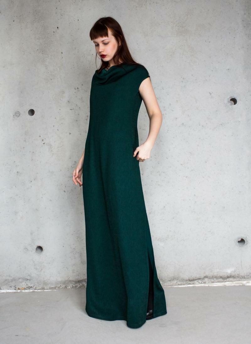 Зеленое платье в пол от Natalia Kravchenko