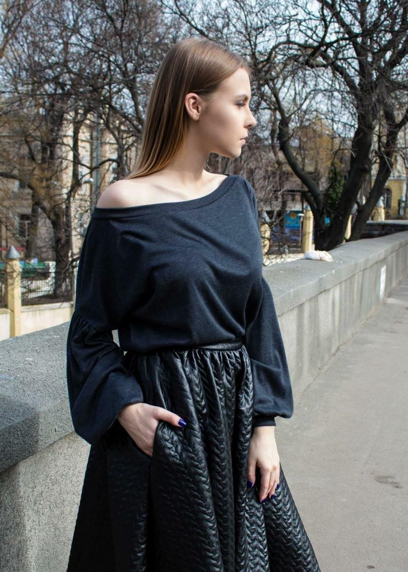 Кофта с пышными рукавами от Natalia Kravchenko
