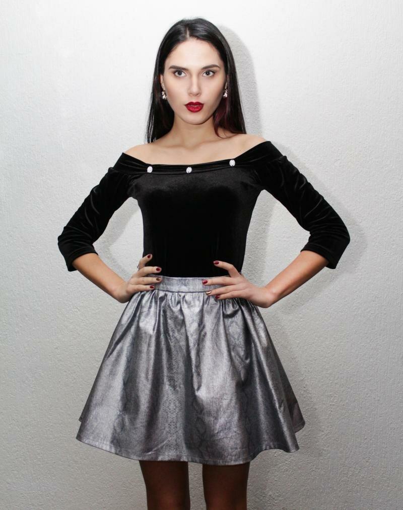 Мини юбка со складками от NATALIA KRAVCENKO