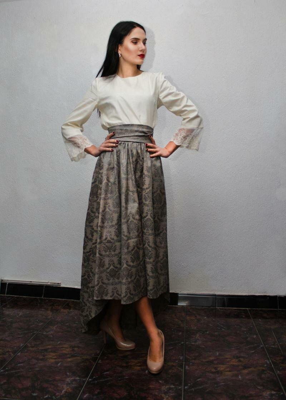 Пышная юбка миди от NATALIA KRAVCHENKO