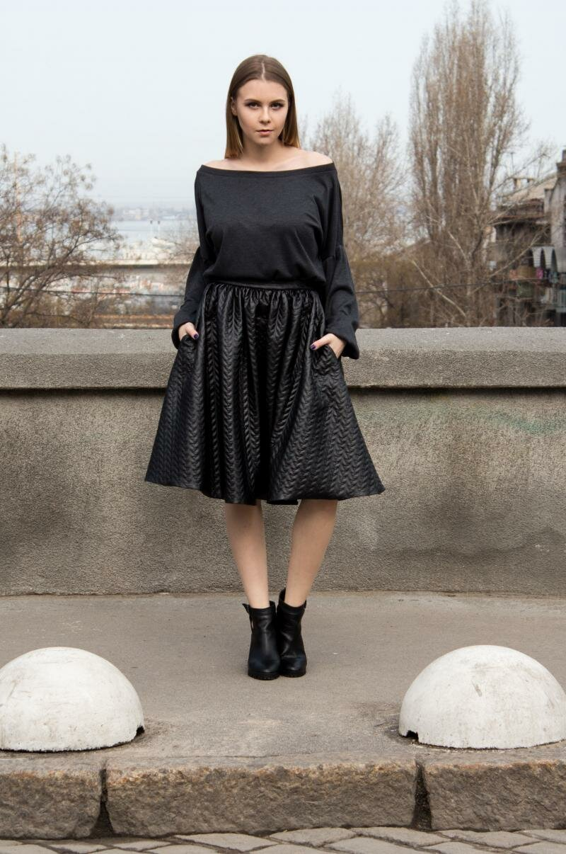 Расклешенная юбка миди от Natalia Kravchenko