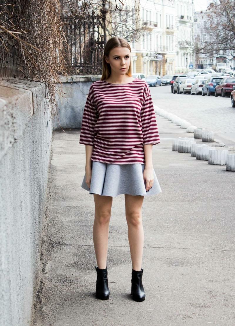 Серая мини юбка от Natalia Kravchenko