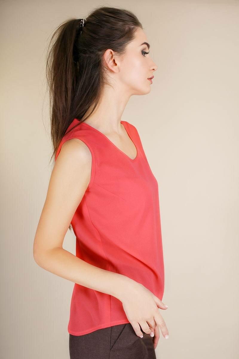 купить блузу коралогова цвета