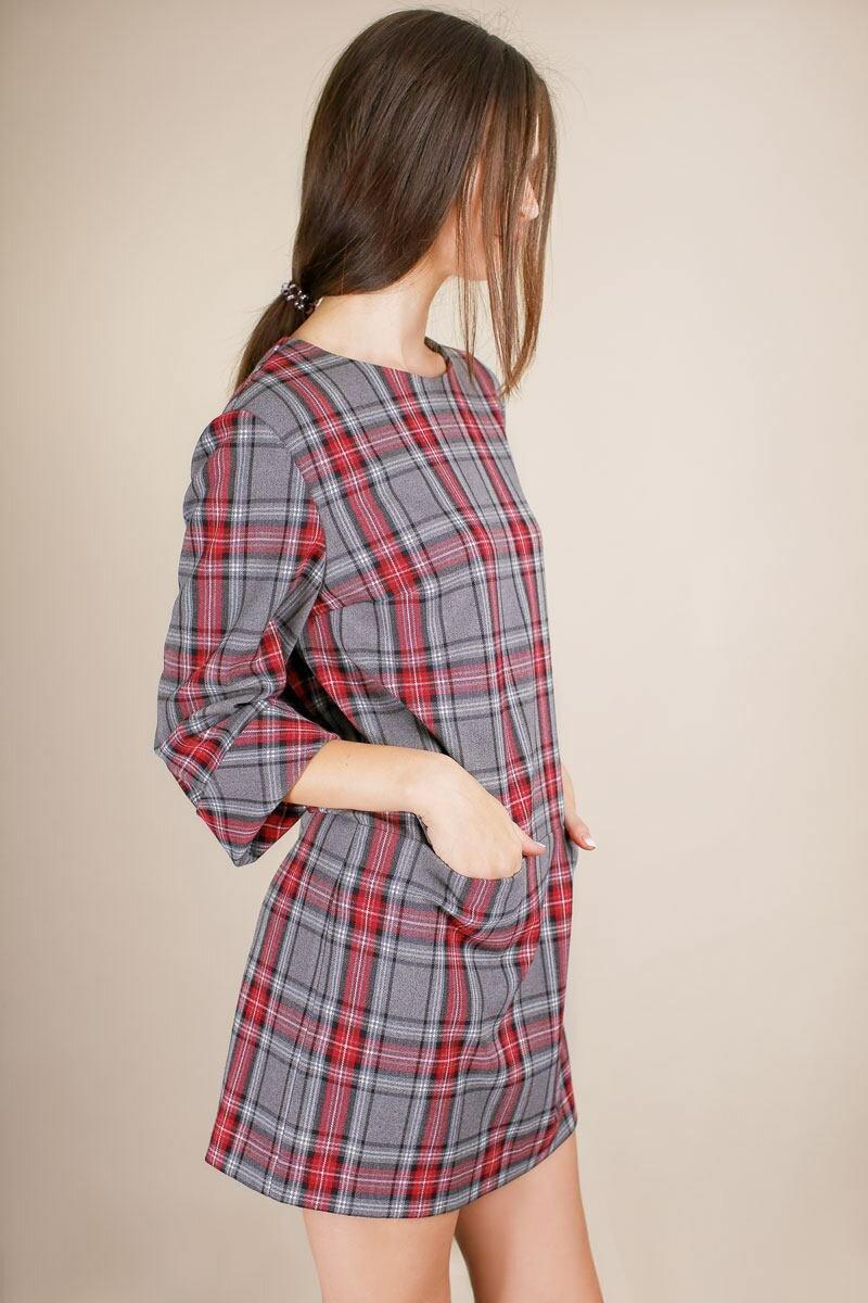 купить платье в клетку интернет магазин