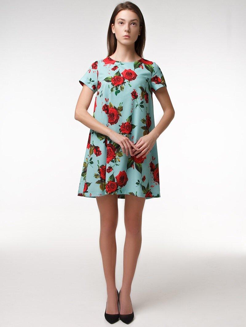 платье с цветочным принтом купит